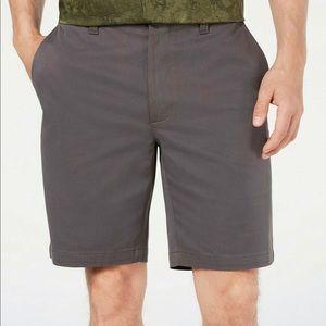 "Tasso Elba Mens Twill 9"" Inseam Khaki Shorts,"